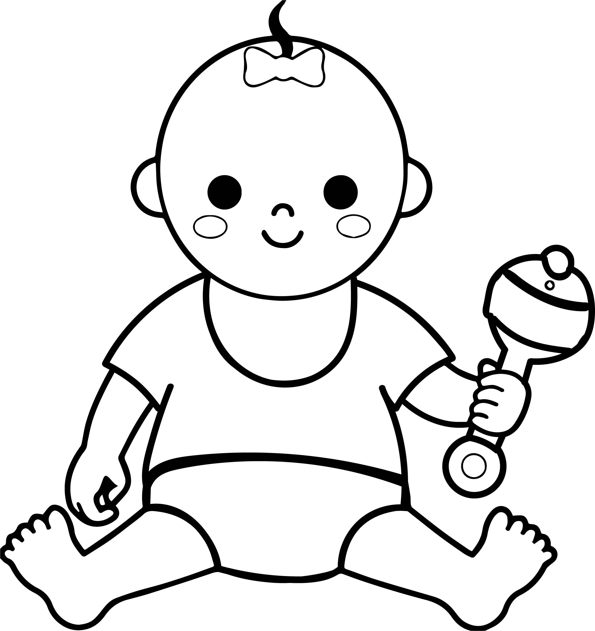 Baby Girl Border Coloring Page | Wecoloringpage.com