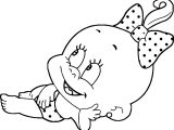 Baby Girl Funny Images Coloring Page