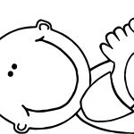 Baby Girl Lying Coloring Page