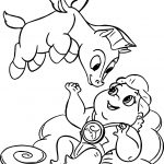 Baby Hercules And Flying Baby Pegasus Coloring Pages