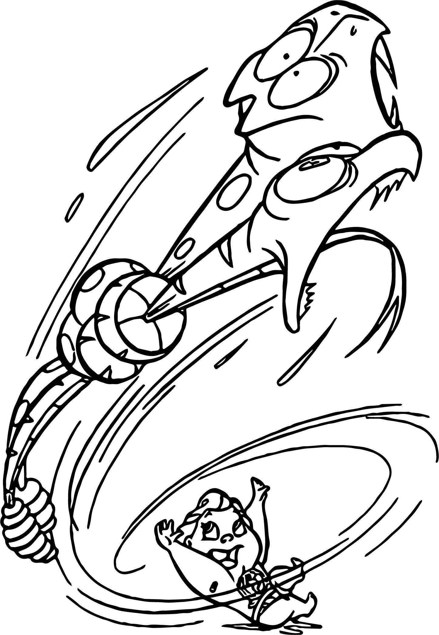 Baby Hercules Throw Creatures Coloring PagesBaby Hercules Throw Creatures Coloring Pages
