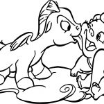 Baby Hercules and Baby Pegasus Funny Times Coloring Pages