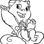 Baby Hercules and Baby Pegasus Give Coloring Pages