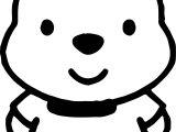 Baby Pooh Chibi Coloring Page