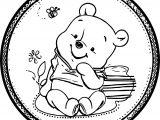 Baby Pooh Circle Coloring Page