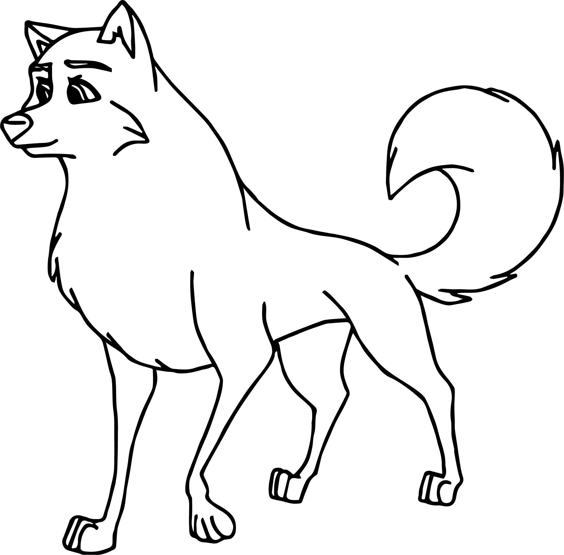 Balto Base Wolf Coloring Page