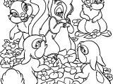 Bambi Flower Bunnies Coloring Pages