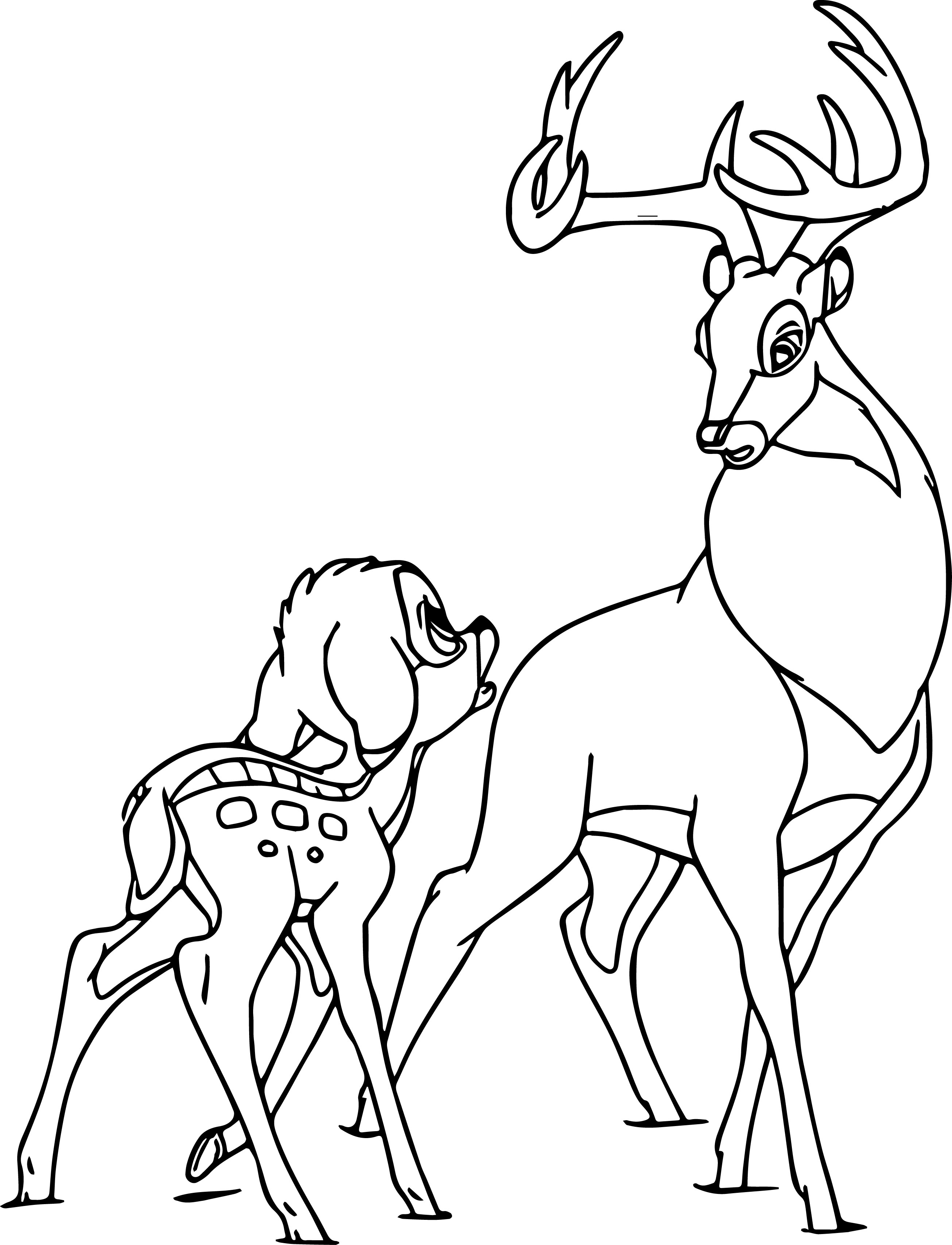 Bambi and the Great Prince Coloring Page