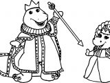 Barney And Baby Bop Royalty Coloring Page