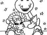 Barney Reads To Baby Bop Coloring Page