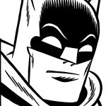 Batman Face Coloring Page