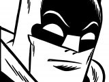 Batman Face Coloring Page