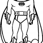 Batman Front Coloring Page