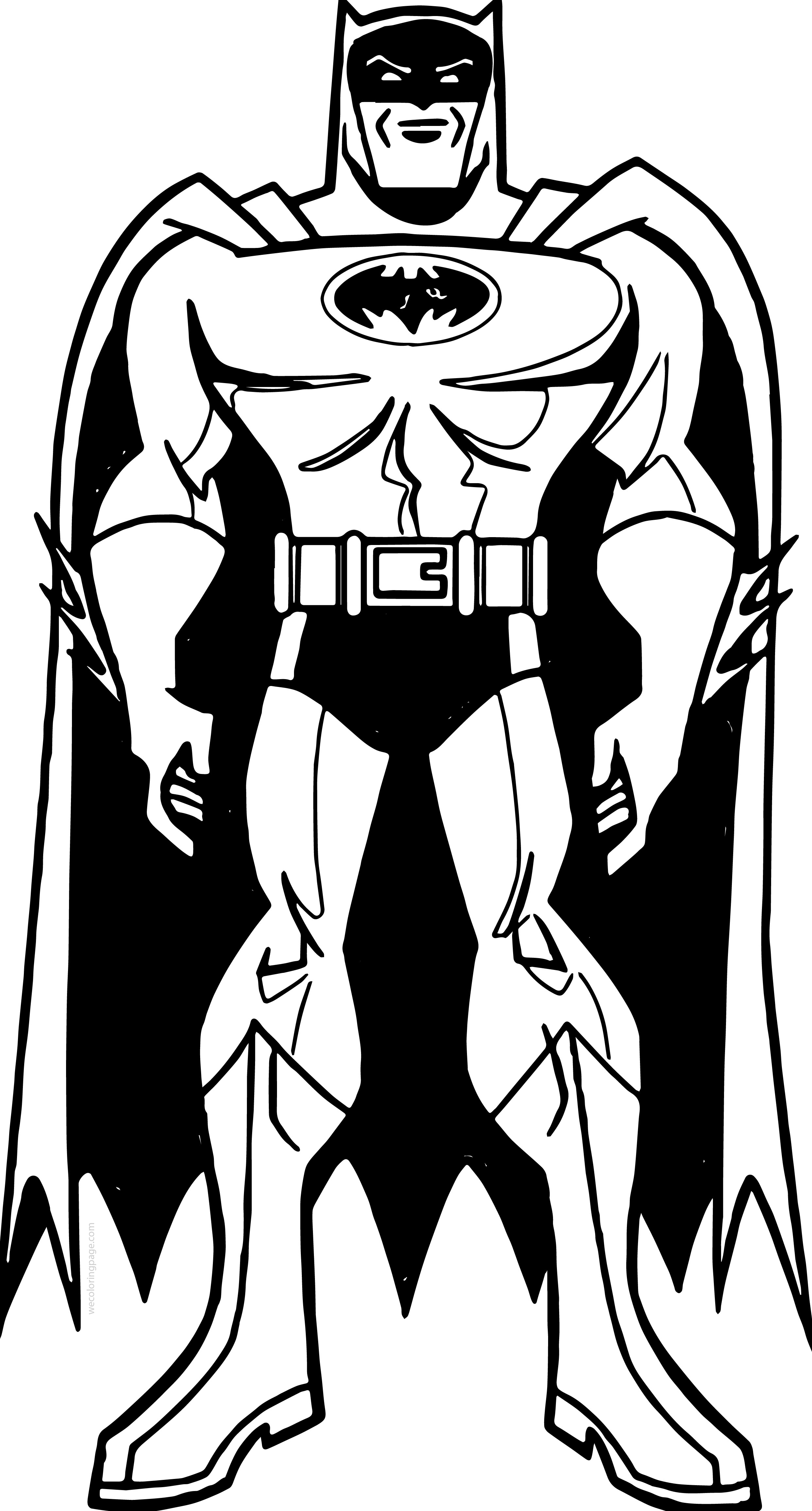Batman Front View Coloring Page