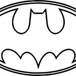 Batman Logo Outline Coloring Page