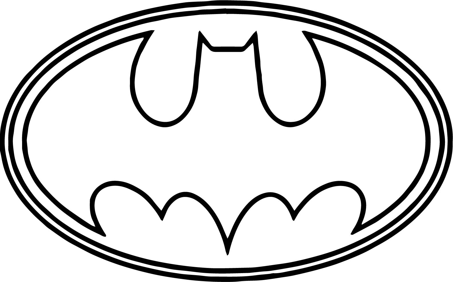 Batman Logo Outline Coloring Page