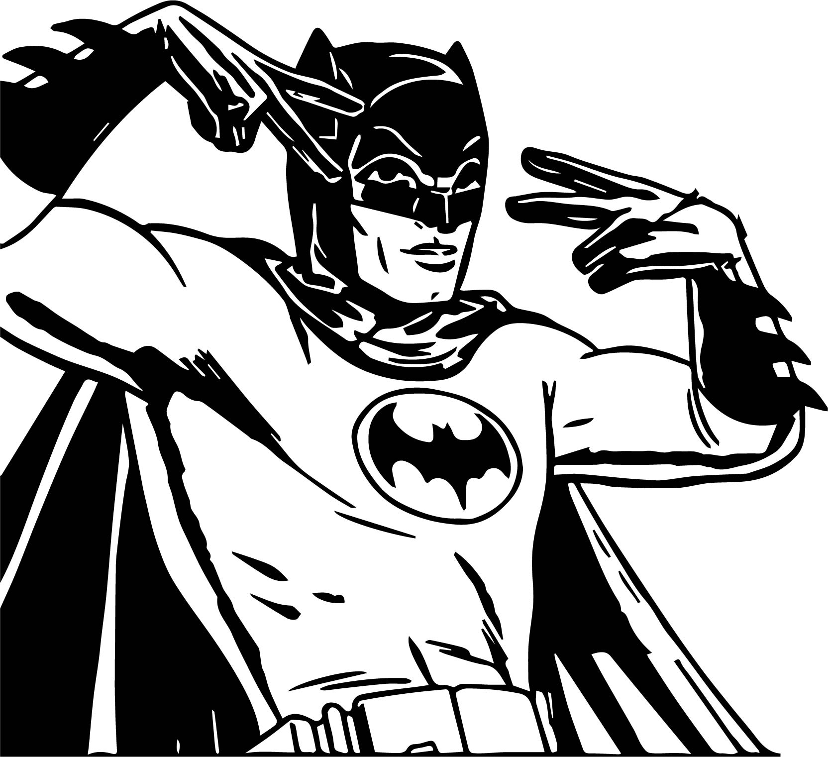 Batman Peace Coloring Page
