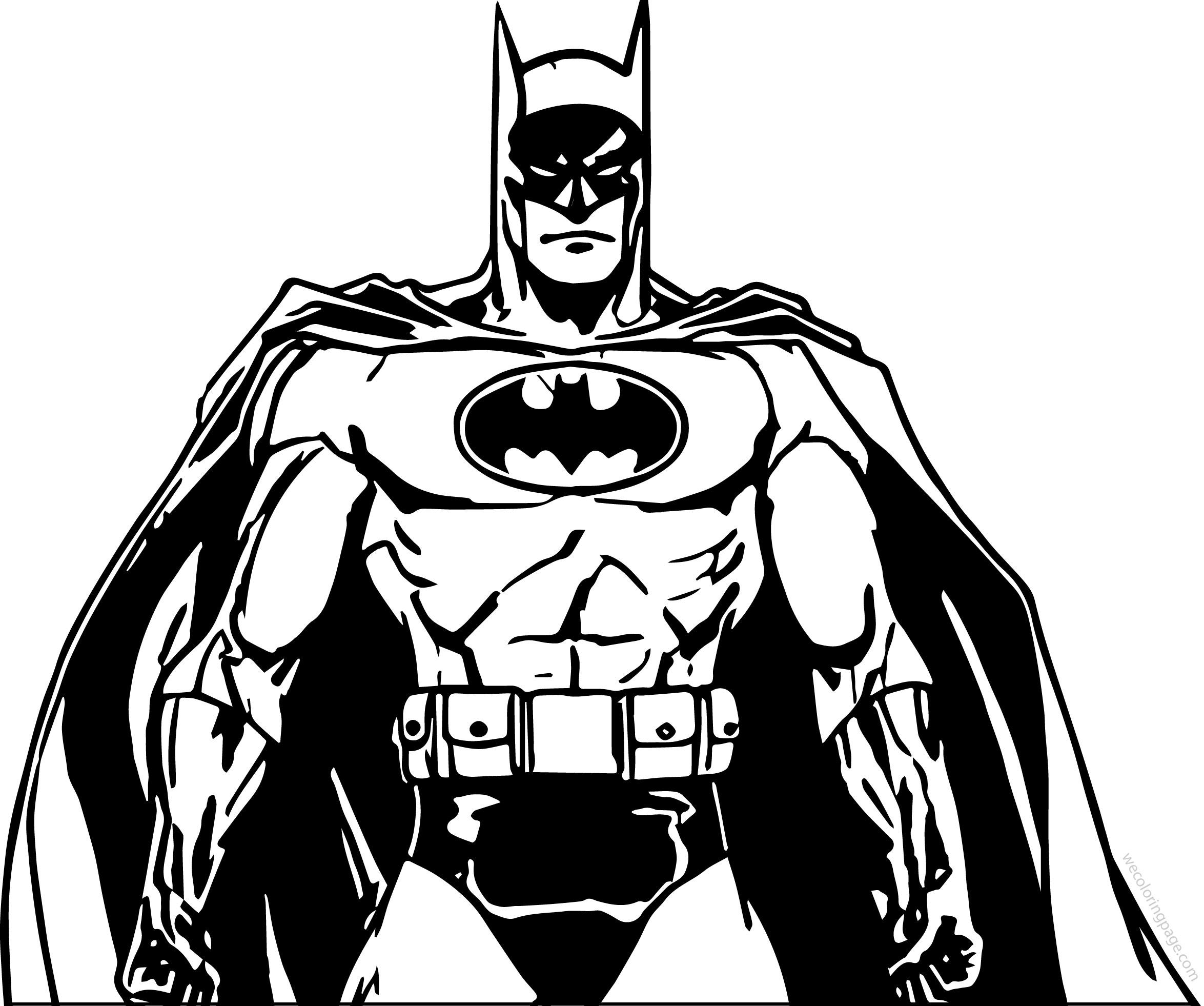 Batman Power Coloring Page