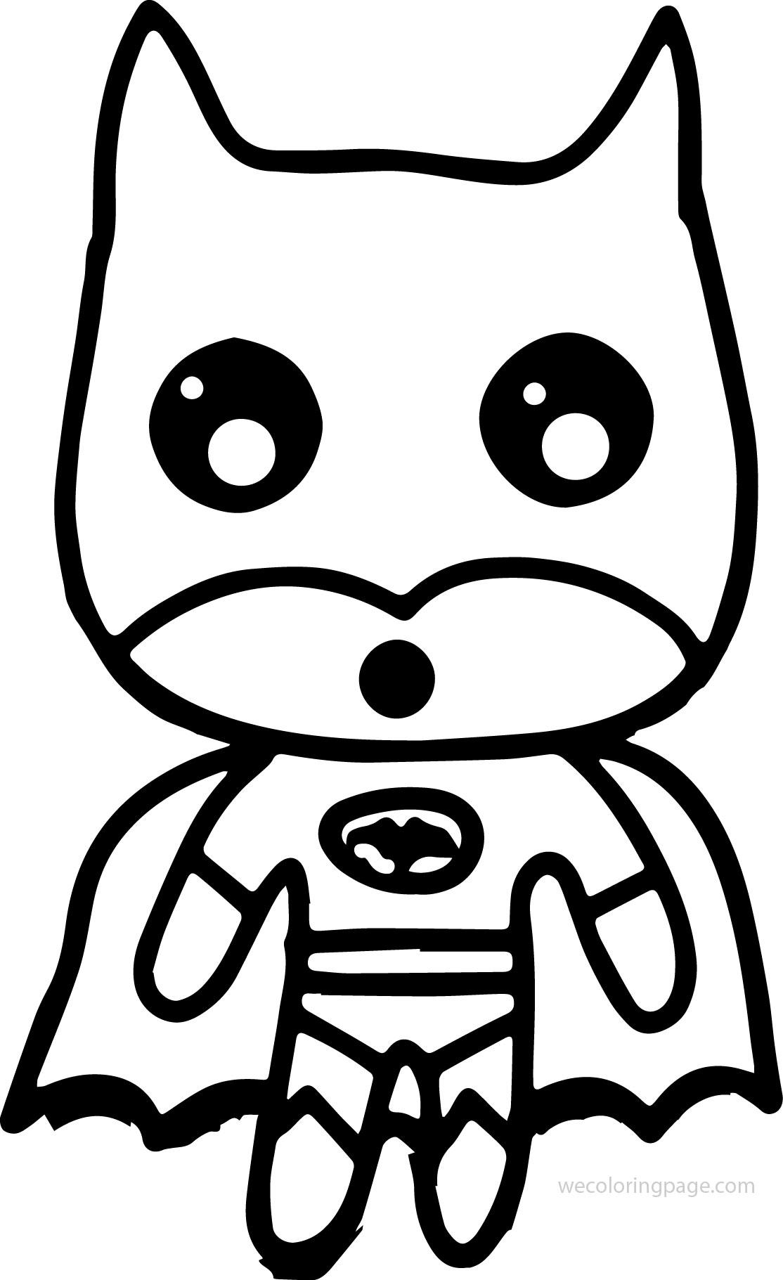 Batman Shock Chibi Kid Coloring Page