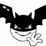 Batman Smiley Emoticon Face Coloring Page