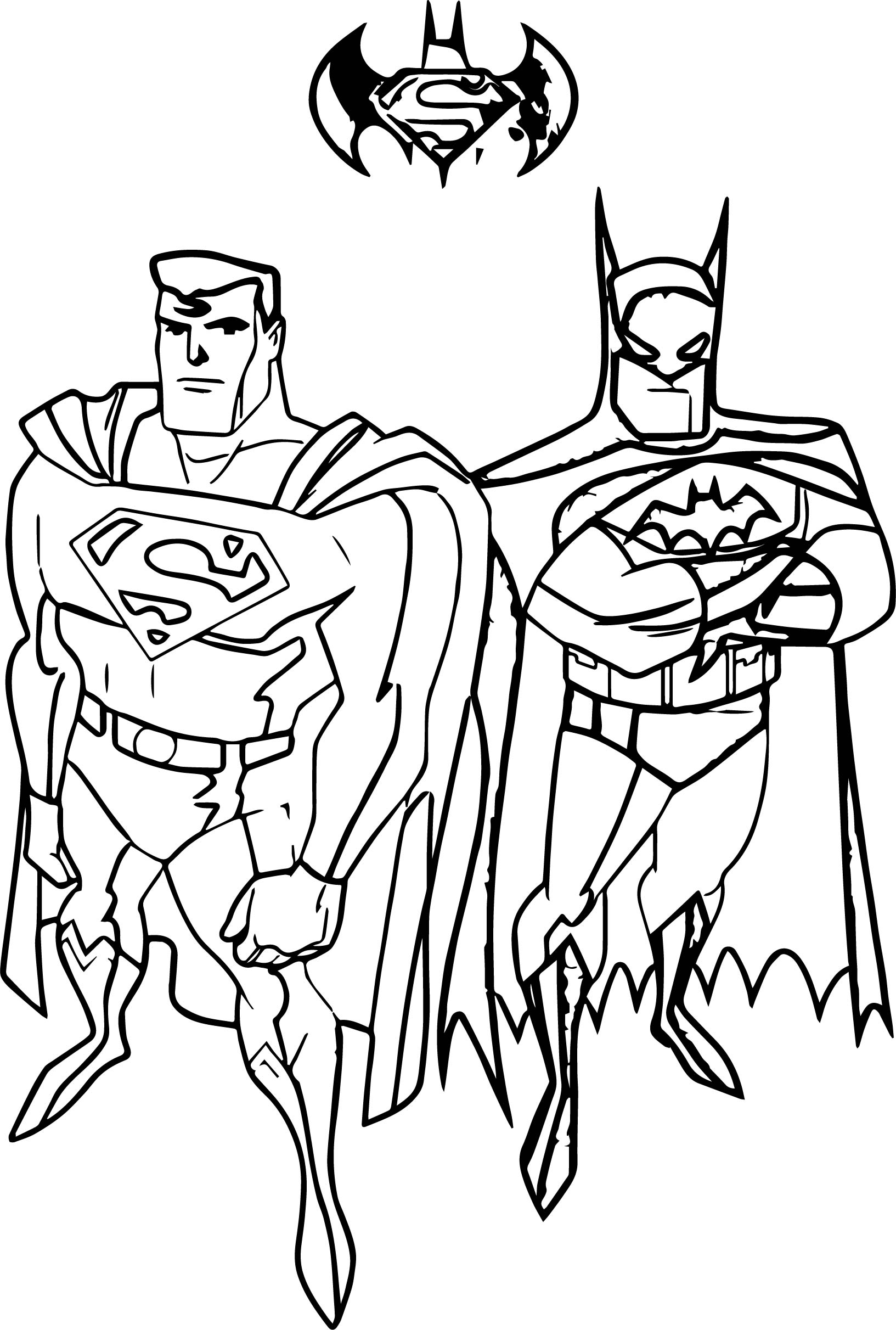 Batman vs superman coloring page for Super man coloring page