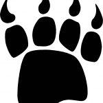 Bear Footprint Coloring Page