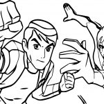 Ben 10 Alien And Friends Force Coloring Page