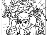 Ben 10 Alien Force Cast Poster Coloring Page