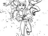 Ben 10 Alien Force Run Team Coloring Page