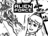 Ben 10 Alien Force US ESRB PSP Coloring Page