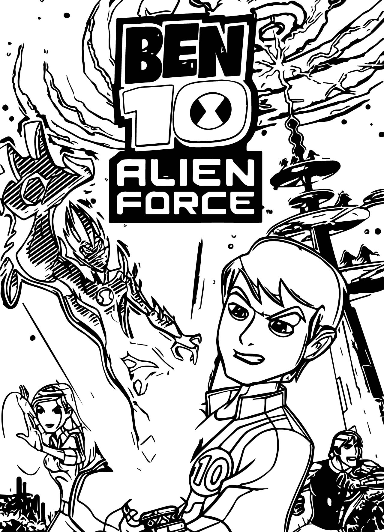 Ben 10 Alien Force US ESRB PSP Coloring Page