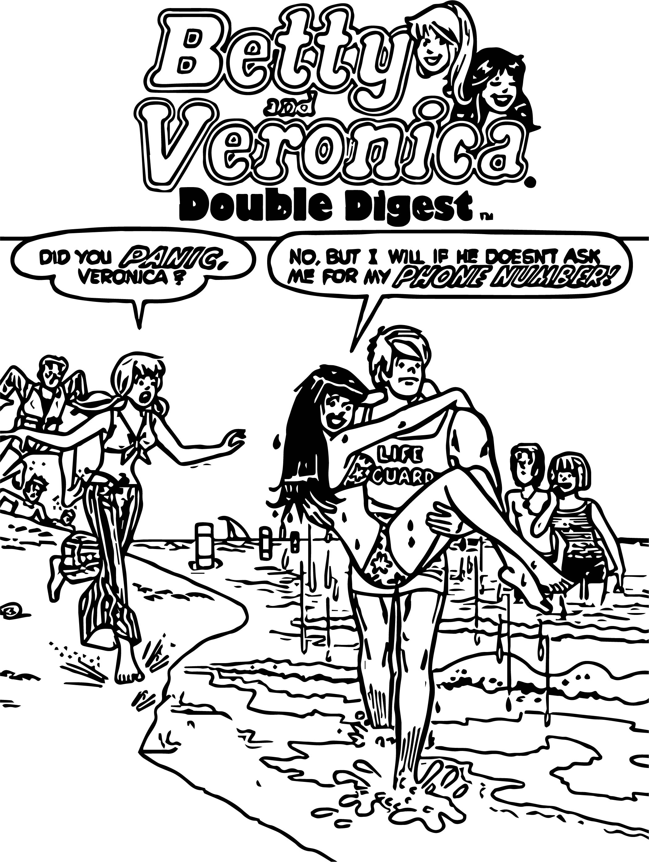 Betty Veronica Coloring Page