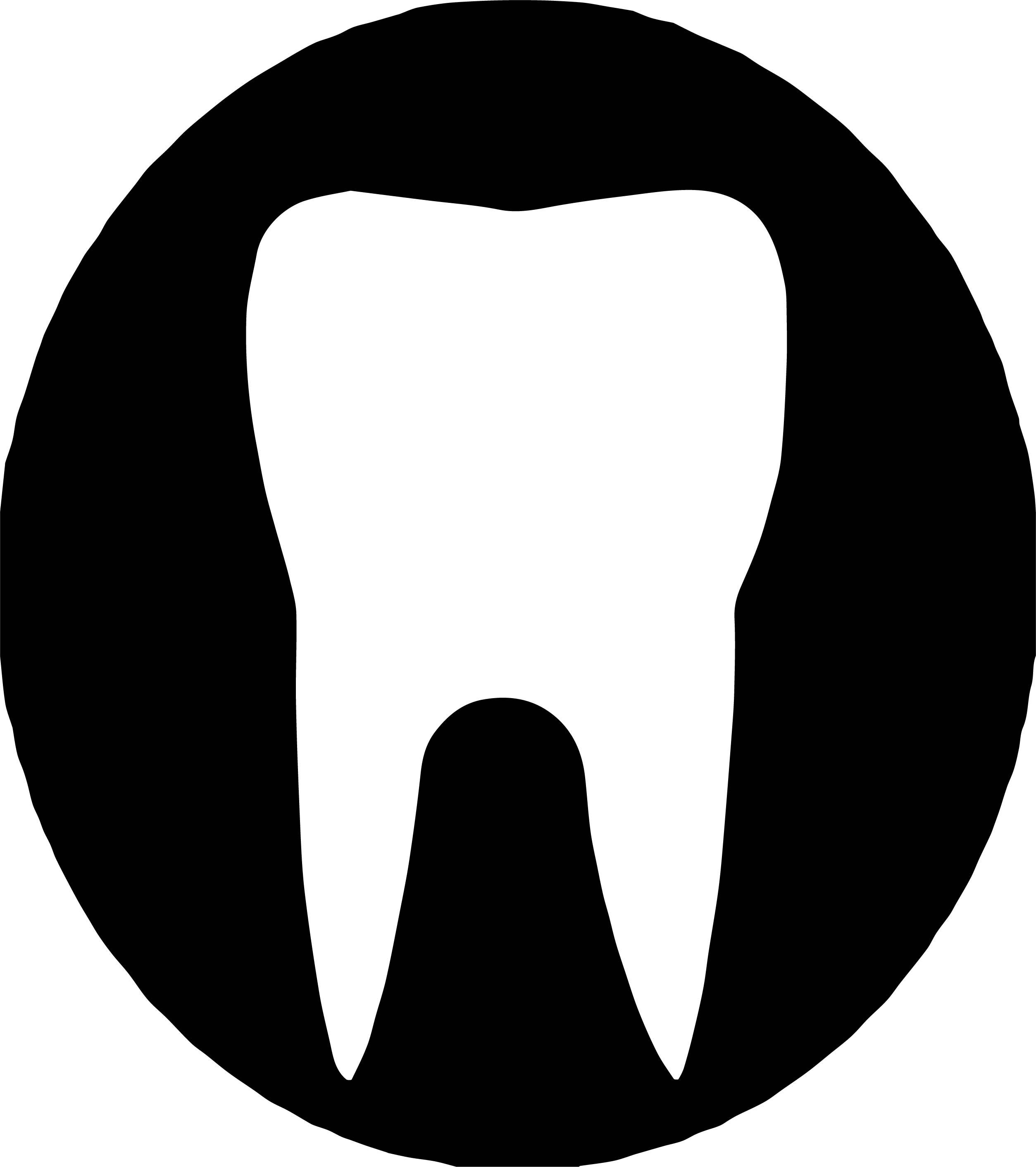 Black White Dental Teeth Logo Coloring Page