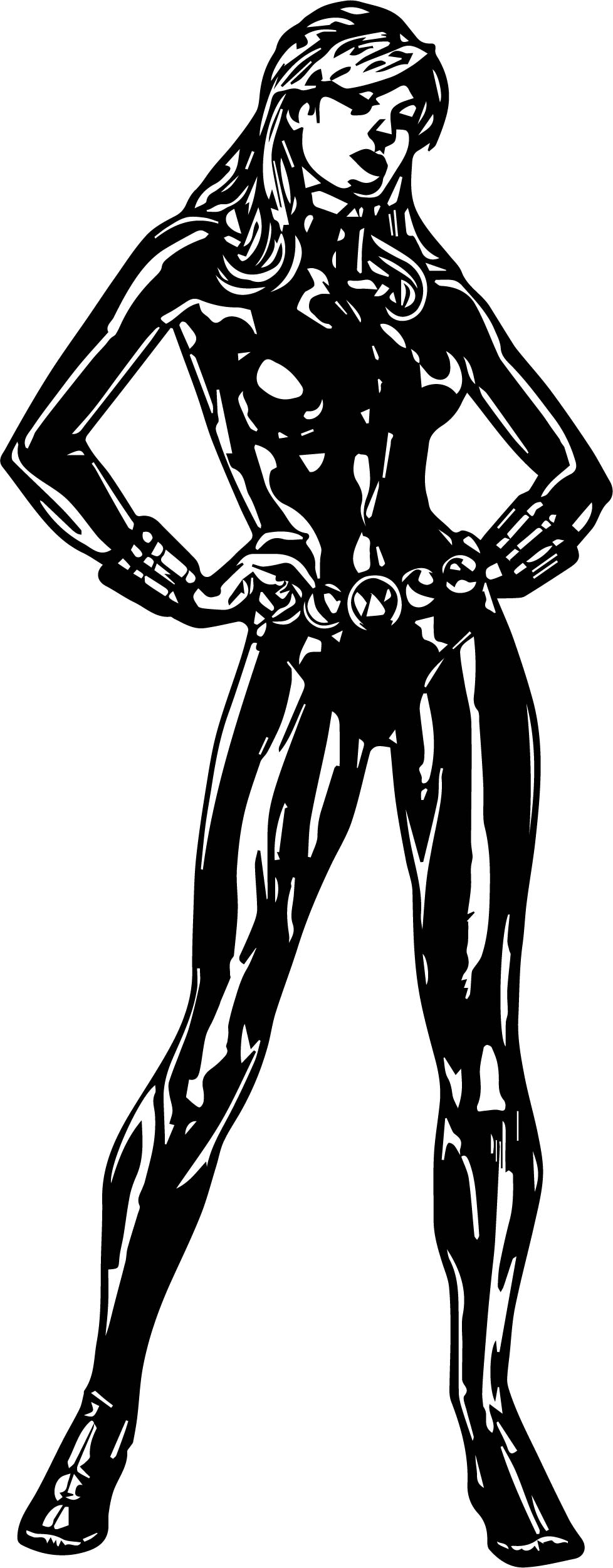 Black Widow Avengers Assemble Coloring Page