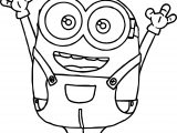 Bob The Minion Tutorial Coloring Page