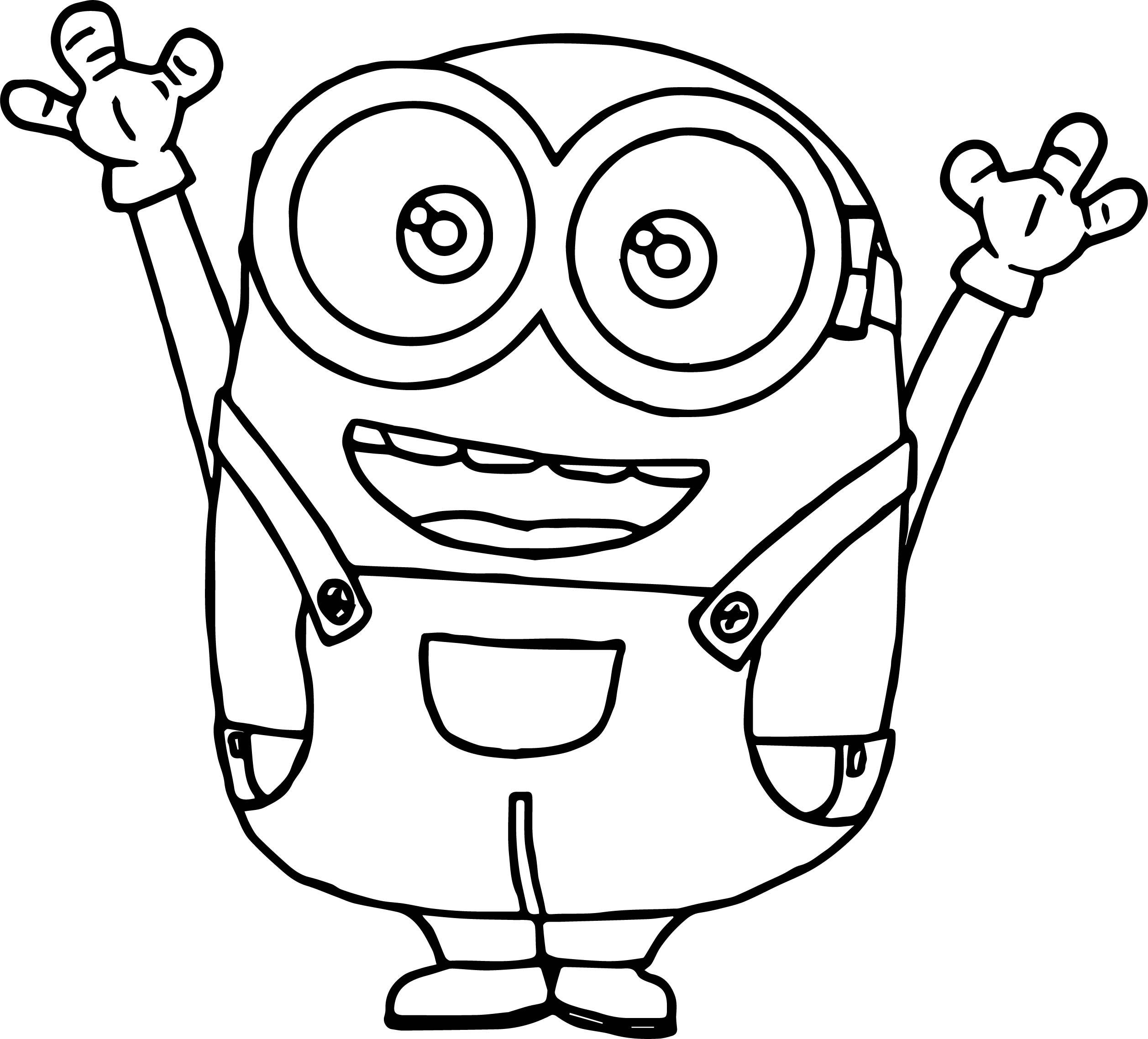 Bob The Minion Tutorial Coloring Page