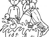 Bobbing For Apples Coloring Page