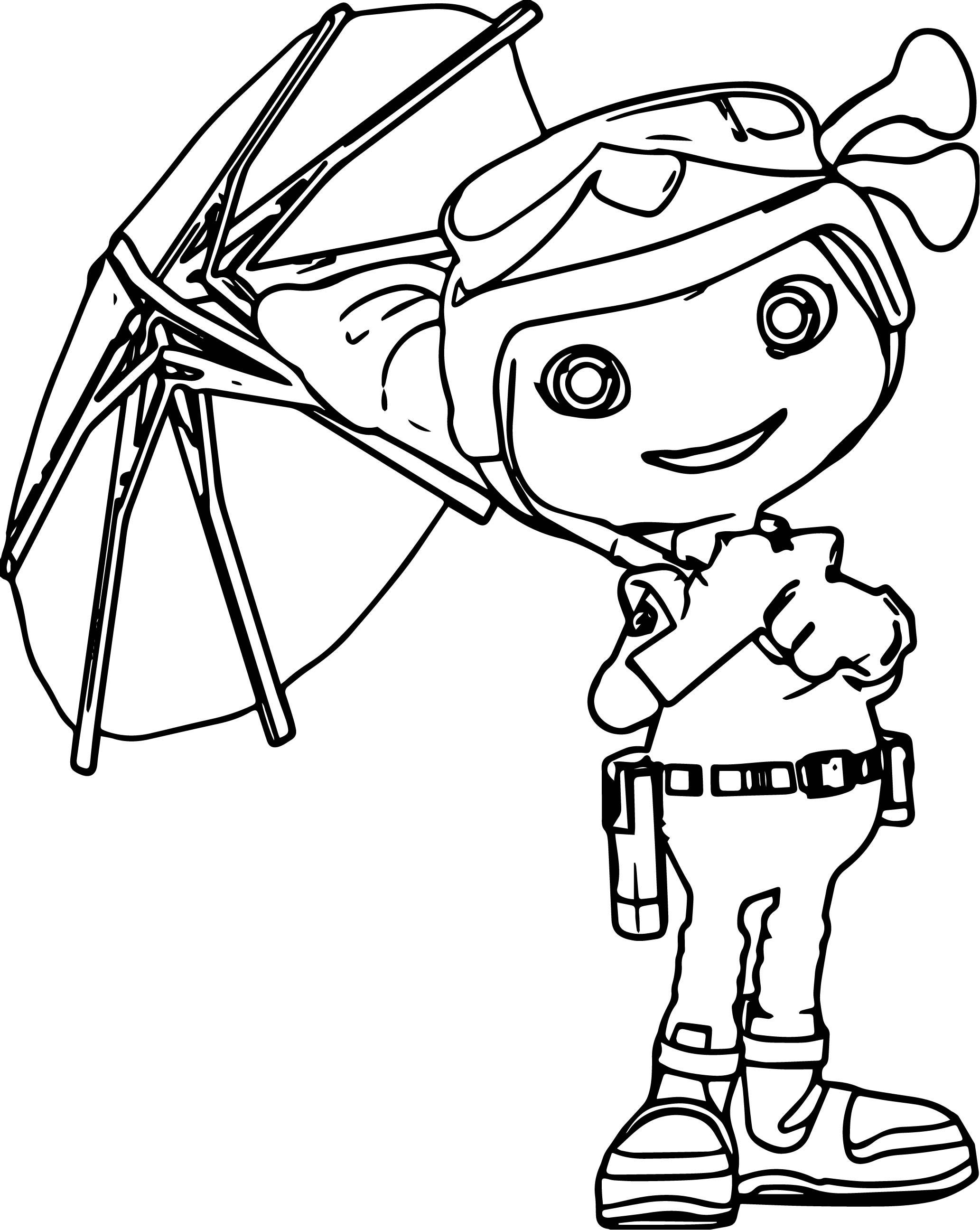 Boomer Umbrella Coloring Page