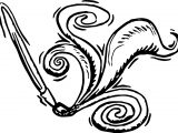 Calligraphy Pen Paint Art Coloring Page