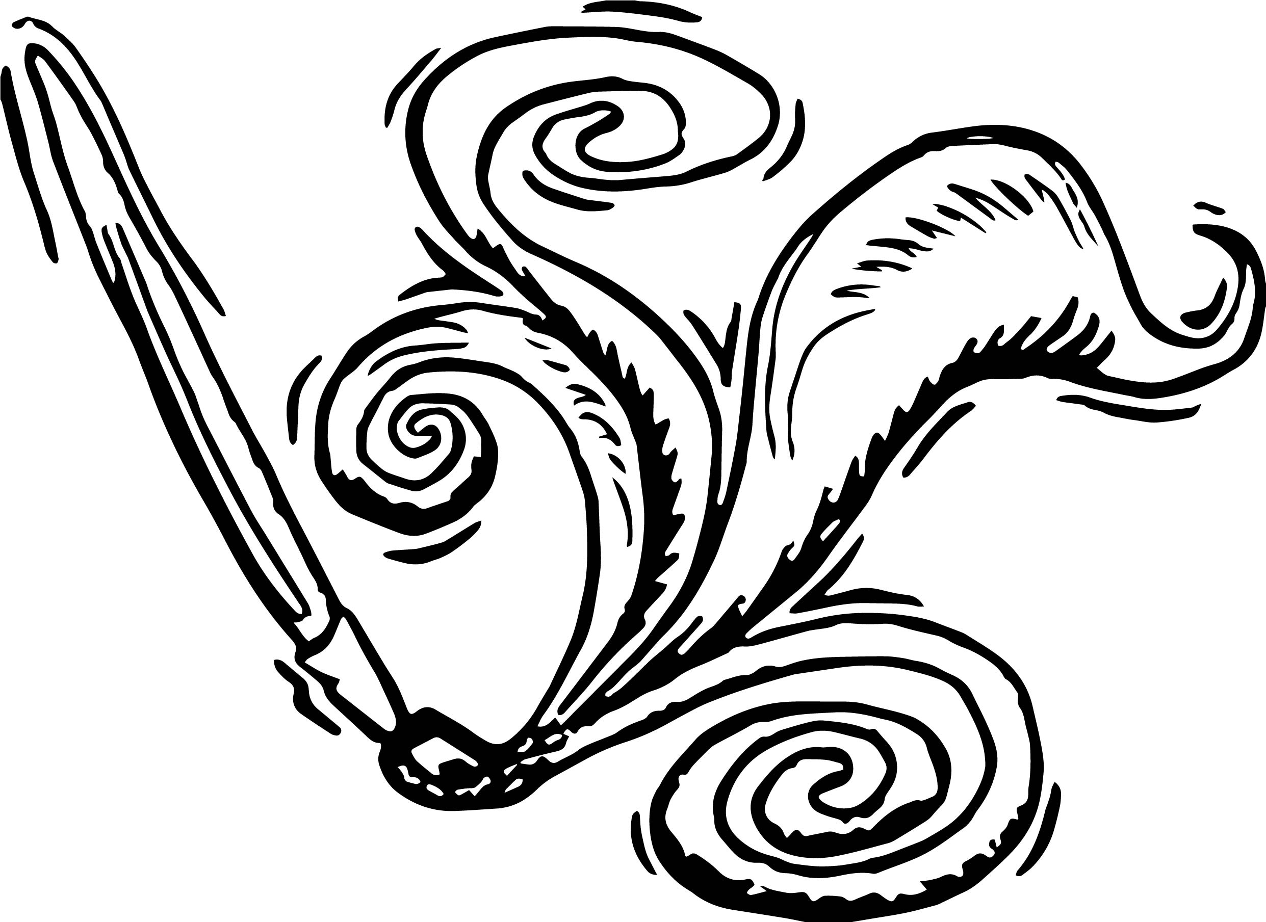Calligraphy pen paint art coloring page wecoloringpage Calligraphy pages