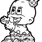 Cartoon Baby Girl Give Coloring Page
