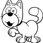Cartoon Cute Cat Coloring Page