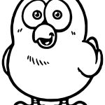 Cartoon Cute Chicken Coloring Page