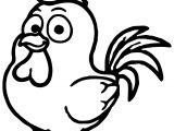 Cartoon Cute Cock Coloring Page
