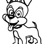 Cartoon Cute Dog Coloring Page