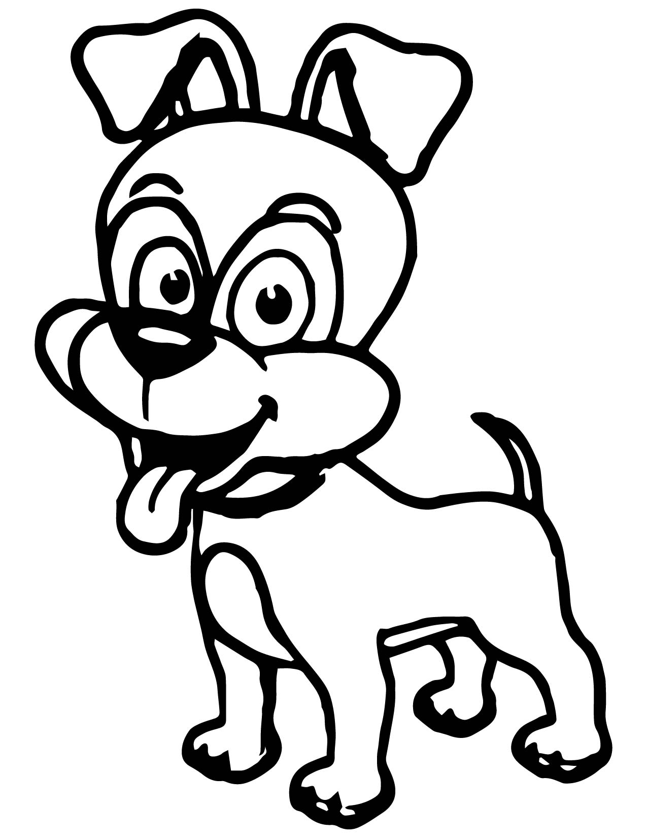 cute cartoon dog coloring pages - photo#6