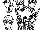 Character Design Manga Man Coloring Page