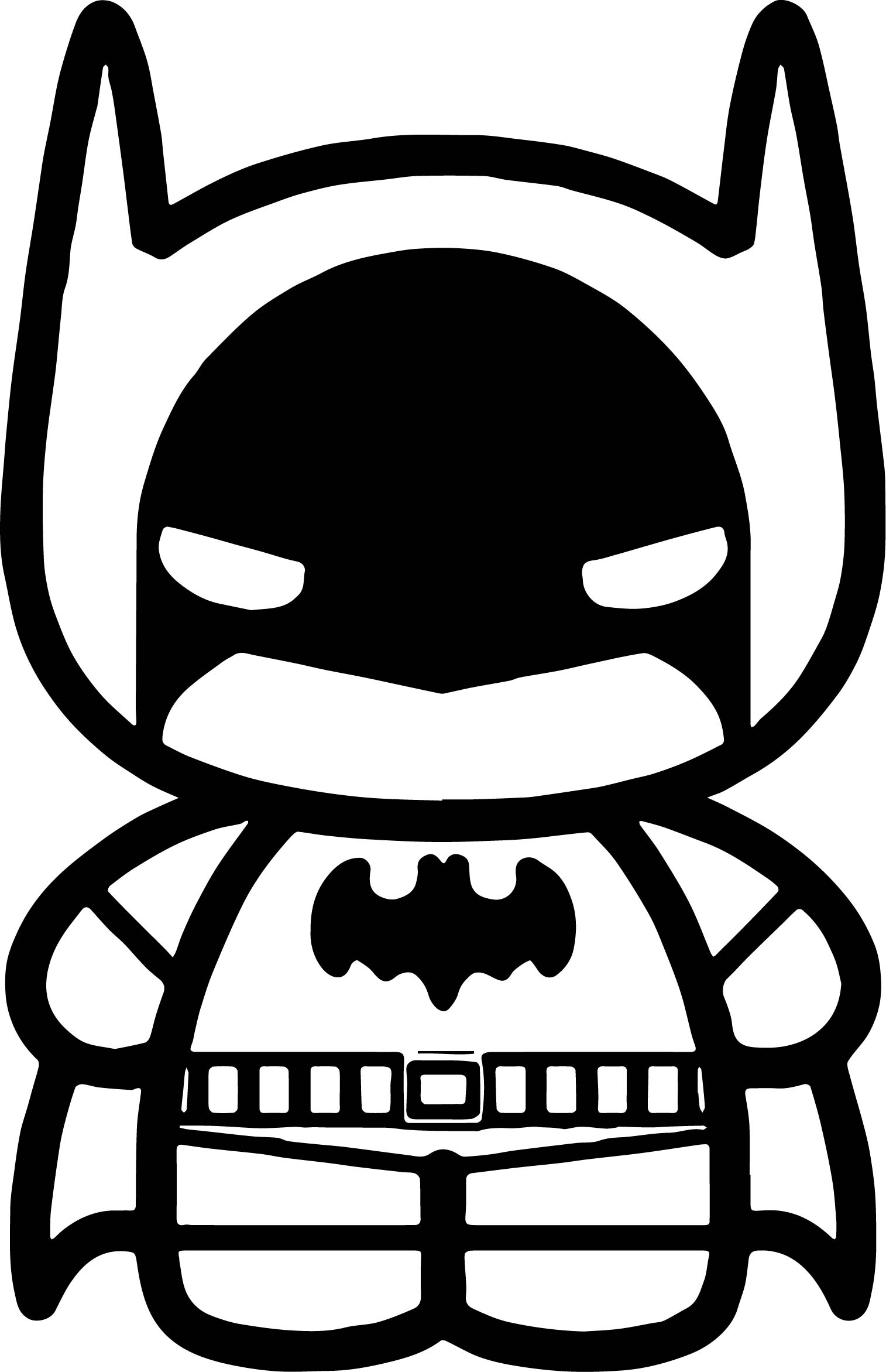 chibi batman coloring pages-#10