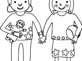 Children Friends Coloring Page