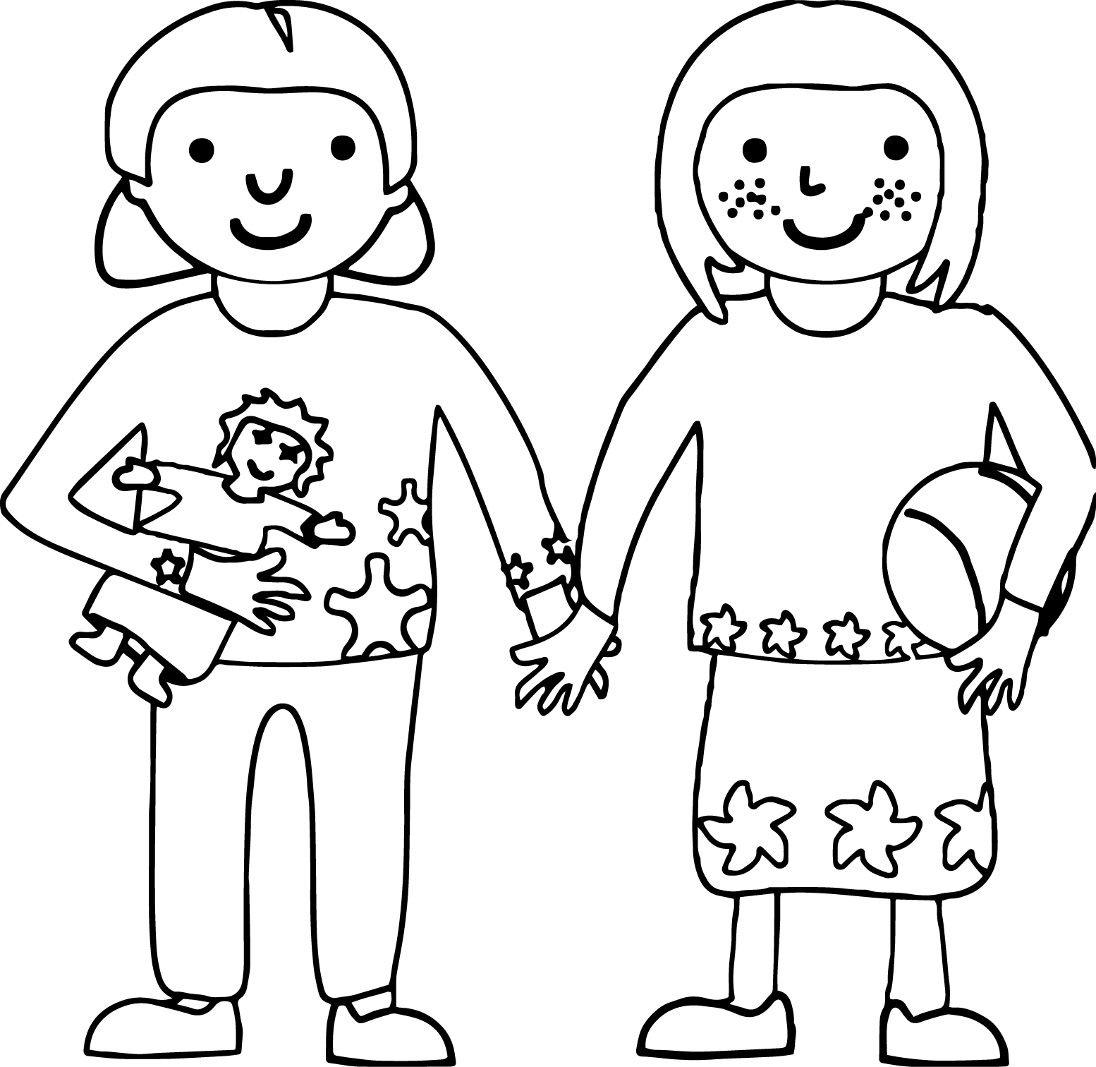 Children friends coloring page for Friends coloring pages for preschoolers